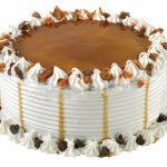 Caramel Peanut Butter Crisp Ice Cream Cake