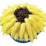 Sunflower Ice Cream Cupcake
