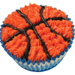 Basketball Ice Cream Cupcake