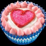 Heart Ice Cream Cupcake