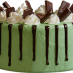 Mint Chocolate Meltdown Ice Cream Cake