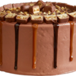 Snickers Snackers Snuckers Ice Cream Cake