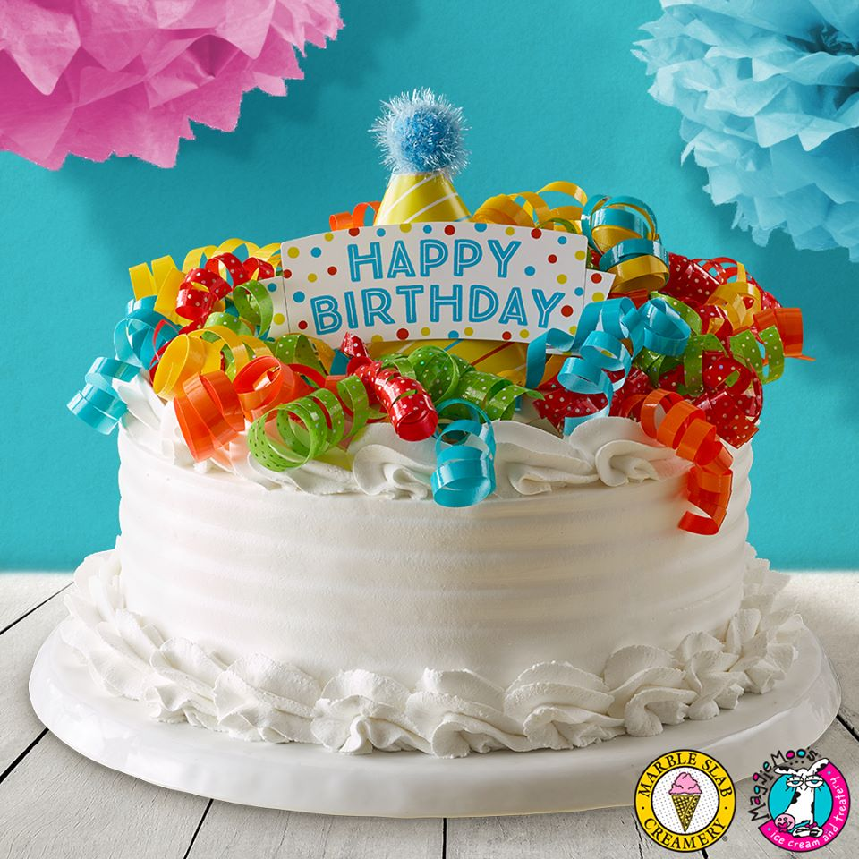 Marble Slab - Birthday Party Ice Cream Cake 2