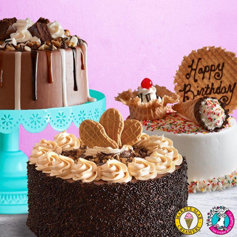 Marble Slab Birthday Cake Ice Cream
